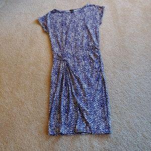 Ann Taylor petite blue&white midi dress